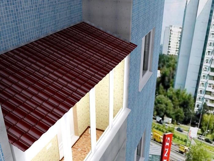 Крыша на балкон оконный эксперт.